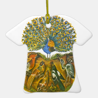Aesop's fables, the peacock and the birds Double-Sided T-Shirt ceramic christmas ornament