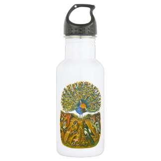 Aesop's fables, the peacock and the birds 18oz water bottle