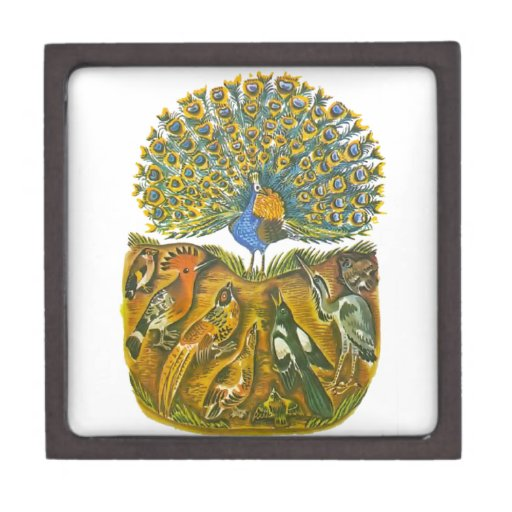 Aesop's fables, the peacock and the birds premium trinket boxes