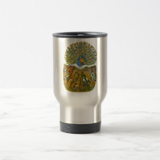 Aesop's fables, the peacock and the birds stainless steel travel mug