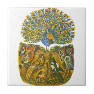 Aesop's fables, the peacock and the birds tile