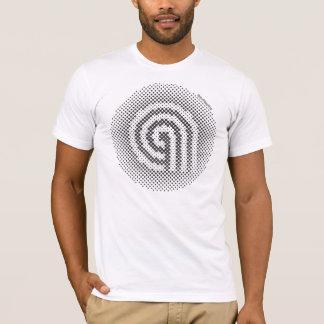 aesthete moire logo t-shirt
