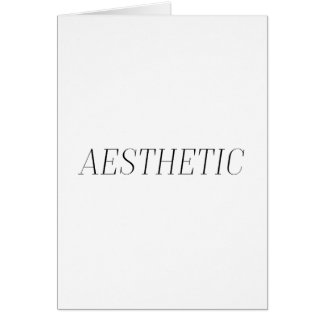 Aesthetic Greeting Card