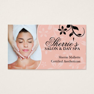 Aesthetician Business Cards