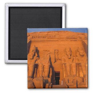 AF, Egypt, Abu Simbel. Facade at sunset, Great Magnet