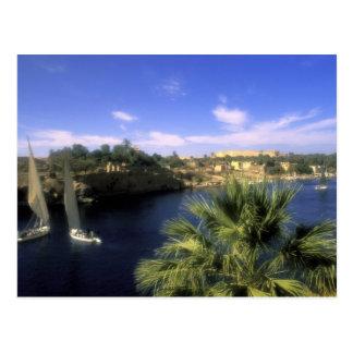 AF, Egypt, Upper Egypt, Aswan. River Nile, Postcard
