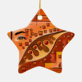 Afanassimi V1 - the vision Ceramic Star Ornament