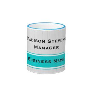 Affaires blanches modernes professionnelles de mug ringer