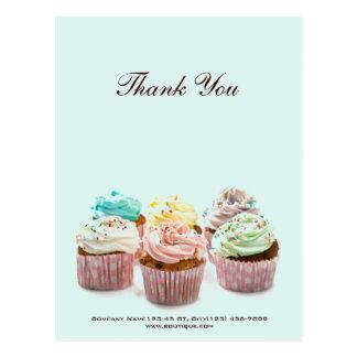 affaires colorées girly de boulangerie de petits g cartes postales
