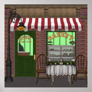 Affaires d'amusement de magasin de boulangerie ou poster