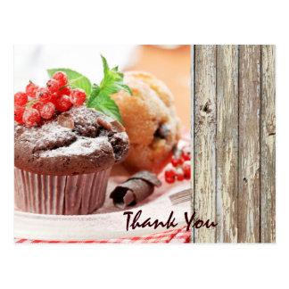affaires de boulangerie de gâteau de chocolat de N Cartes Postales