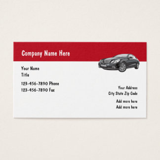 Affaires des véhicules à moteur de service de luxe cartes de visite