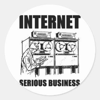 Affaires sérieuses d'Internet Autocollant Rond