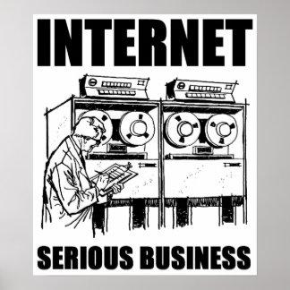 Affaires sérieuses d'Internet Poster