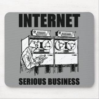 Affaires sérieuses d'Internet Tapis De Souris