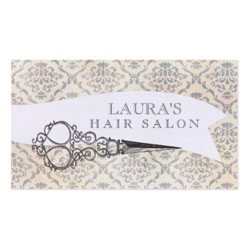 Affaires vintages de salon de coiffure de ciseaux  modèles de cartes de visite