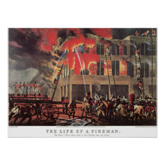 Affaires vintages, pompiers de pompier de pompiers affiches