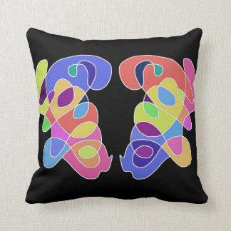 'Affection' Abstract Art Throw Pillow