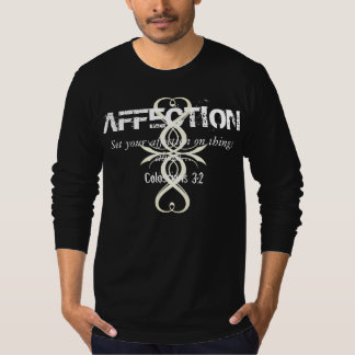 AFFECTION Colossians 3:2 Bible Verse Cross L/S Tee