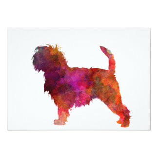 Affenpinscher 01 in watercolor 2 card