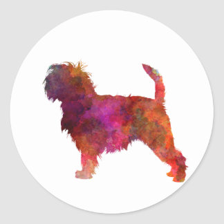 Affenpinscher 01 in watercolor 2 classic round sticker
