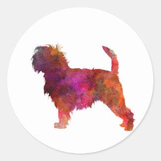 Affenpinscher 01 in watercolor 2 round sticker