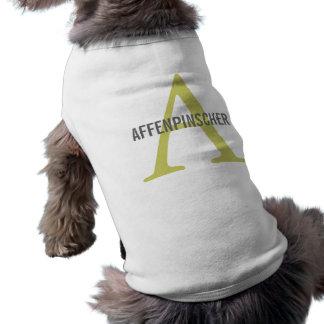 Affenpinscher Breed Monogram Design Pet Tee
