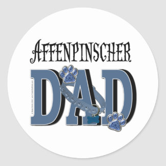Affenpinscher DAD Round Sticker