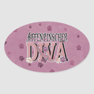 Affenpinscher DIVA Oval Sticker