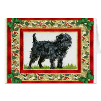 Affenpinscher Dog Blank Christmas Card