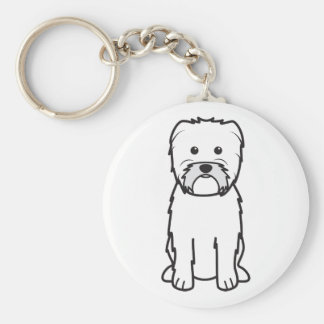 Affenpinscher Dog Cartoon Keychain