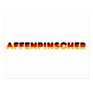 affenpinscher flag in name postcard