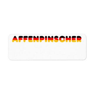 affenpinscher flag in name return address label