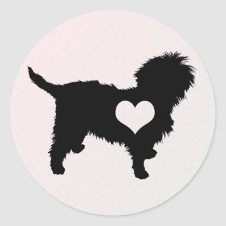 Affenpinscher Heart Sticker
