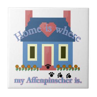 AFFENPINSCHER HOME Is Where Tile
