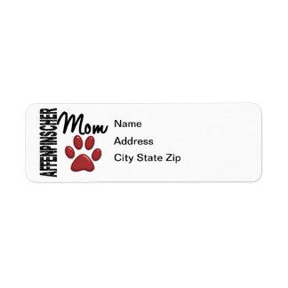 Affenpinscher Mom 2 Return Address Label