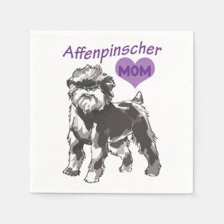 Affenpinscher Mom Cocktail Paper Napkins