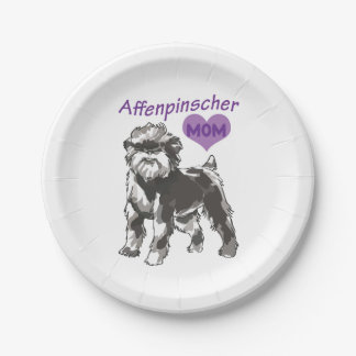 Affenpinscher Mom Custom Paper Plates