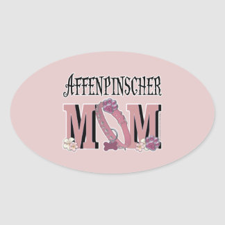 Affenpinscher MOM Oval Sticker