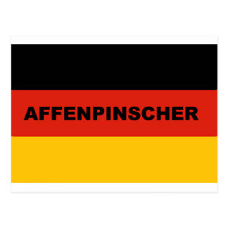 affenpinscher name flag postcard