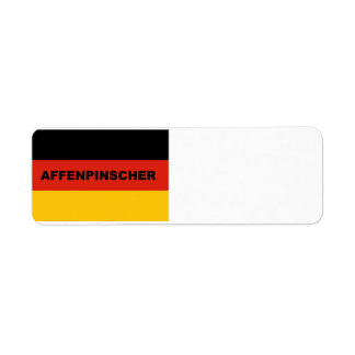 affenpinscher name flag return address label