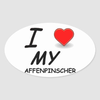 Affenpinscher Oval Sticker