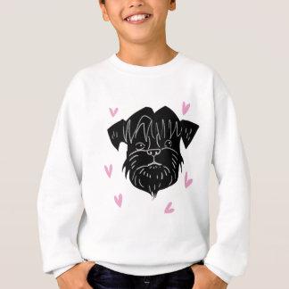 Affenpinscher portrait with hearts sweatshirt