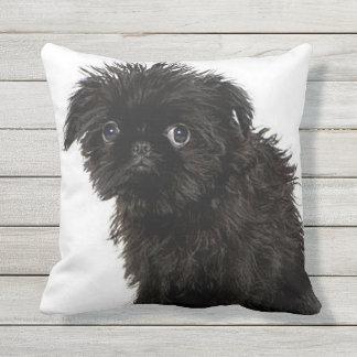Affenpinscher puppy outdoor pillow