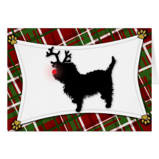 Affenpinscher Reindeer Christmas Card