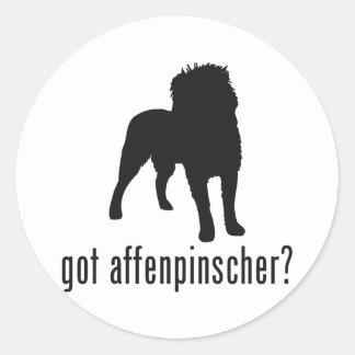 Affenpinscher Round Sticker