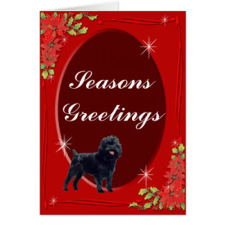 Affenpinscher Seasons Greeting Card