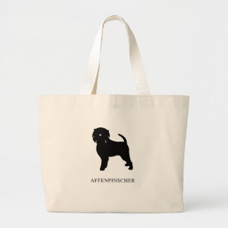 Affenpinscher Silhouette Large Tote Bag