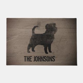 Affenpinscher Silhouette Personalized Doormat