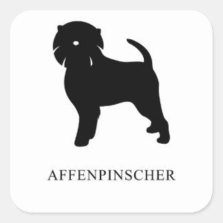 Affenpinscher Silhouette Square Sticker